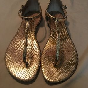 Michael Kors leather logo sandals